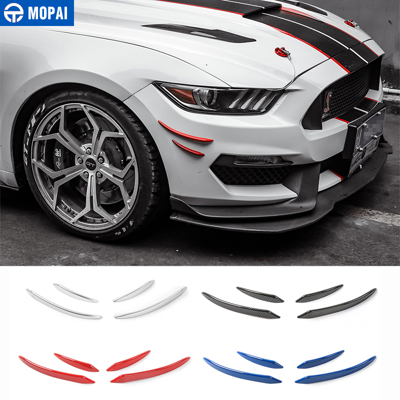 MOPAI ABS Car Exterior Whole Body Sticker Front Decoration Moulding Cover Stickers For Ford Mustang Car Styling