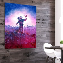 Nordic Picture Poster Curious Astronaut Traveler Cuadros Decoracion Paintings on Canvas Wall Art for Home Decorations Decor