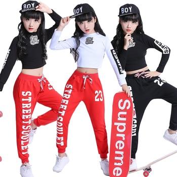 Moda niños Jazz Dance ropa niñas Street Dance Hip Hop Dance disfraces niños  rendimiento ropa de fiesta 2-15 años 01721693d00