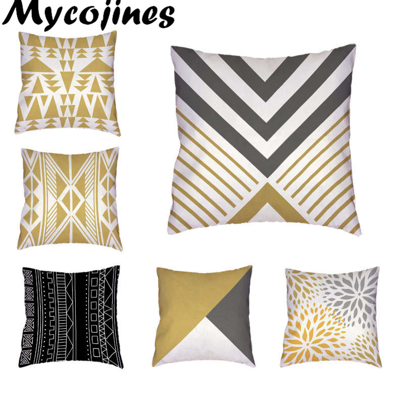 Cushion Cover Nordic Arrows Geometric Stripes Simple Square Beige Pillow Cases Sofa Chair Cushion Cover Shop House Home Decorations For Gift Home Textile