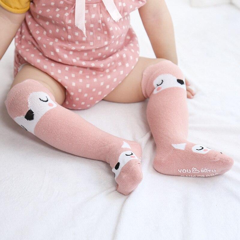 1 Paar Meisjes Kousen Baby Kids Kinderen Winter Beenwarmers Peuters Knie Strakke Ballet Jongens Pad Kruipen Antislip Lente Herfst
