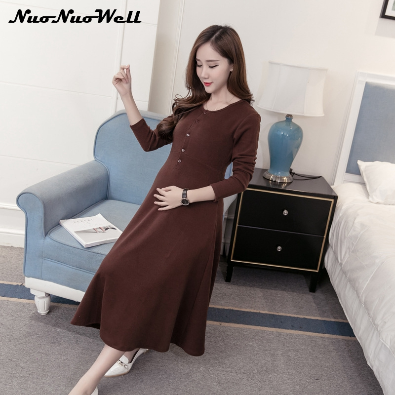 2017 New Fashion Maternity Dress Autumn Breastfeeding Pregnant Dresses Women Sweater Dress Pregnant Women Skirt Elegant Wear 2018 new arrival men black genuine leather shoes party and wedding men dress shoes luxurious handmade men loafers male s flats