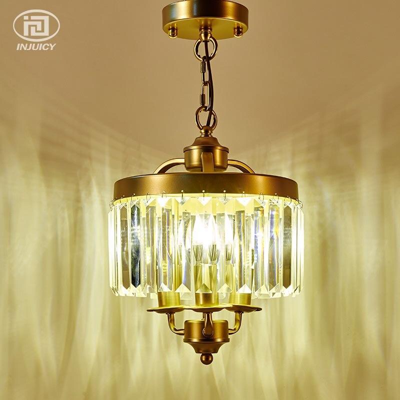 Loft américain Vintage K9 cristal lustre en métal suspendu éclairage rétro chambre salle à manger hôtel Restaurant plafonnier