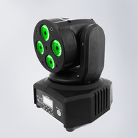 Mini LED Moving Head 4x18W RGBWA UV 6in1 Lighting Sound Active Christmas Decorations DMX 512 LED Stage Light