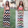 New fashion summer Womens Sexy Bohemian chromatic stripe Long dress Pregnant Maternity Dresses