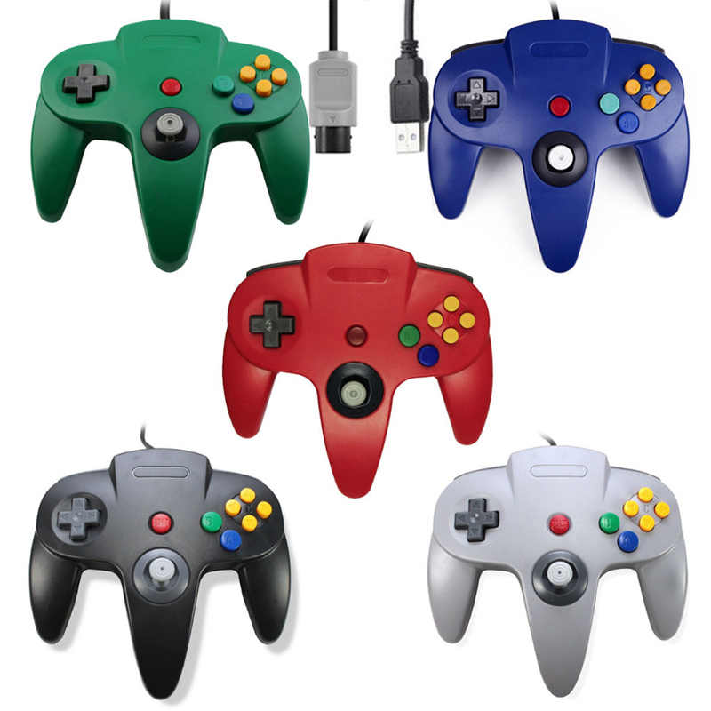 Game Pad For Nintend N64 Controller Gamepad Gaming Joystick For Nintend N64 Console USB Port JoypadWired For Mac Gamepads