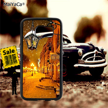 Winter night light soft TPU edge cell phone cases for samsung s6 plus s7 s8 s9 s10 lite e note8 note9 cover case