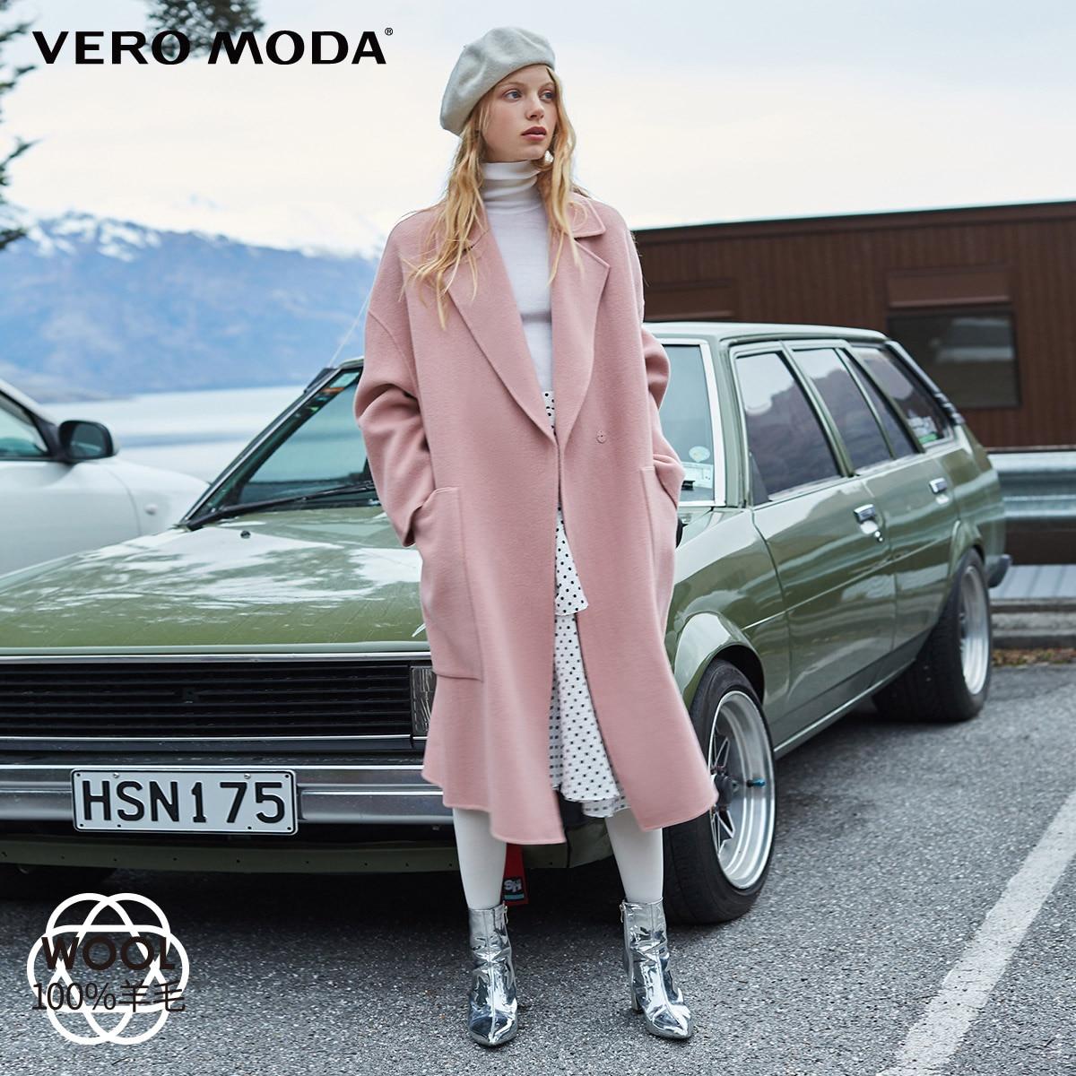 Vero Moda Women s 100 wool double faced woolen overcoat 318427505