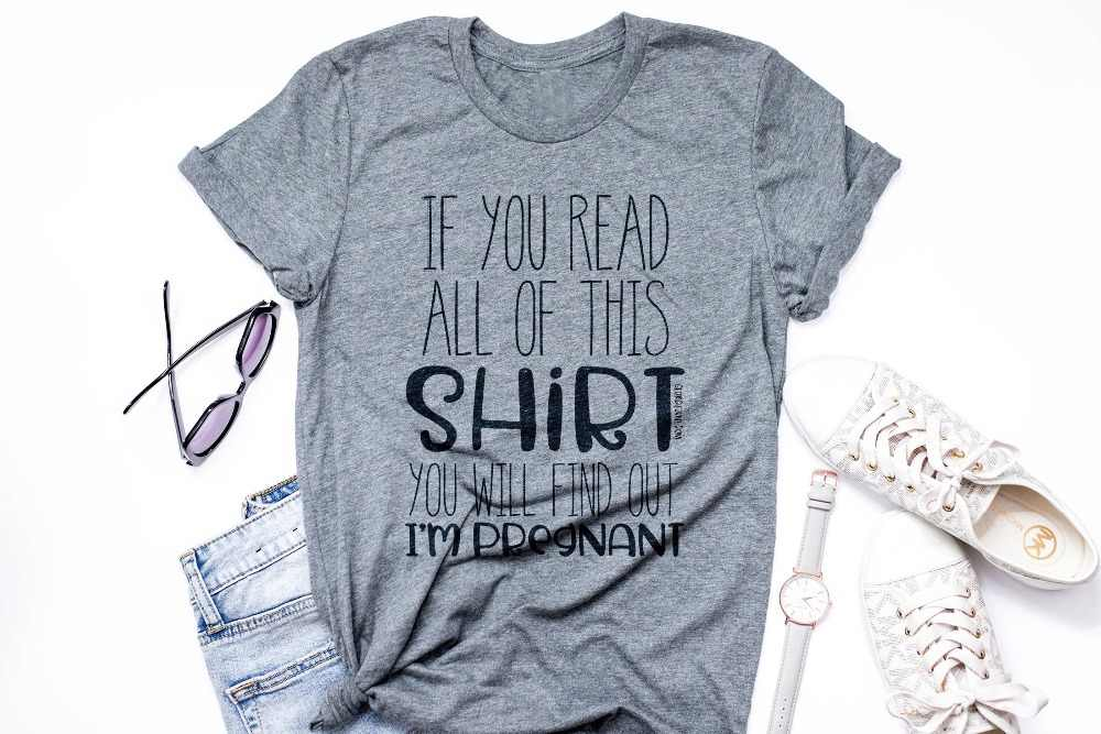 7d800a9dd Detail Feedback Questions about Pregnancy Announcement Tee cotton casual  funny slogan vintage graphic surprise tumblr mother fashion t shirt goth  party ...