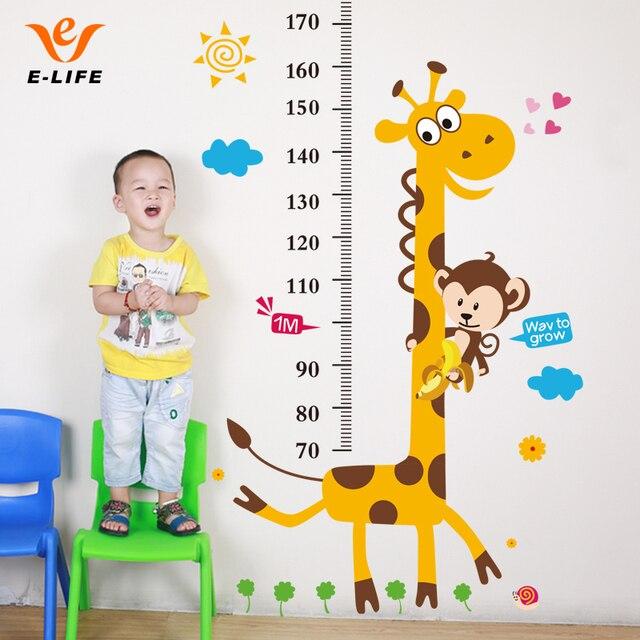 aliexpress com buy kids height chart giraffe wall stickerscape flower height chart wall sticker kiddicare com