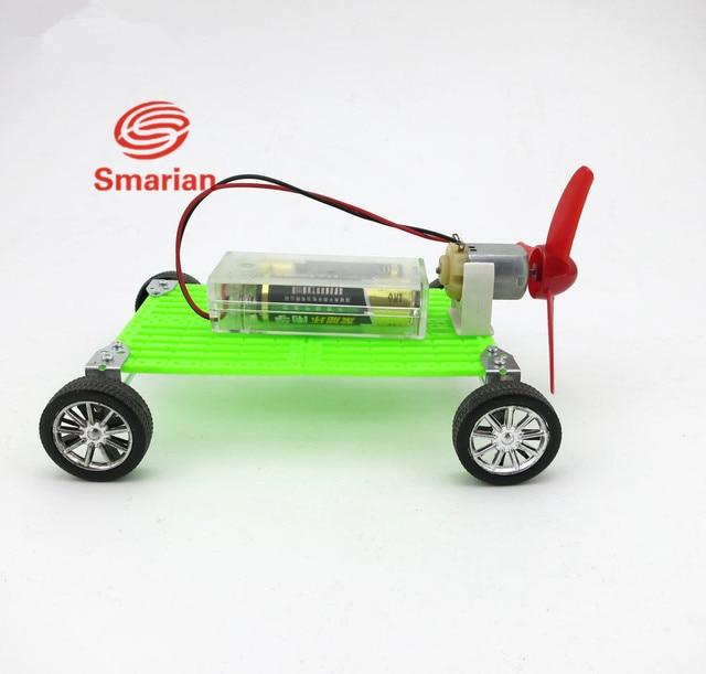 F17926 Diy Assembles Toy Motor Propeller Wind Power Car