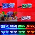 DC5v DIY Kits Dot Matrix digital clock electronic Alarm clock microcontroller time white color led thermometer