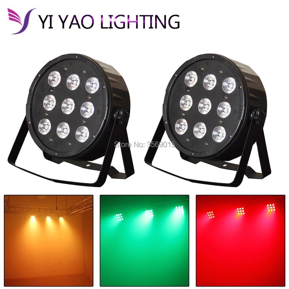 2PCS/LOT LED Stage Light Effect 9x12W Flat Par RGBW DMX512 DJ Disco Lamp Dmx2PCS/LOT LED Stage Light Effect 9x12W Flat Par RGBW DMX512 DJ Disco Lamp Dmx