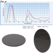 ZWB2 Ultraviolet UV Band Pass Filter Flashlight Diameter 42mm Thickness 1.9mm