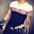 Новый мужской Летней Одежды Рубашка С Короткими Рукавами мужская Хлопка Освежающие футболки Мужчины 2017 бесплатная доставка