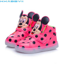 Hot Fashion Brand Boys Girls LED Light Shoes Kids Sneakers Luminous Glow Sole Children LED Sneakers