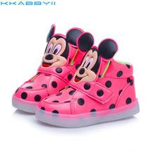 Hot Fashion Brand Boys Girls LED font b Light b font font b Shoes b font