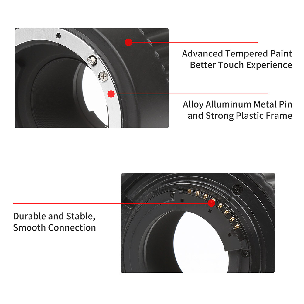 1 ensemble Tube d'extension de caméra mise au point automatique micro-éperon anneau de photographie pour Nikon SD998 - 3