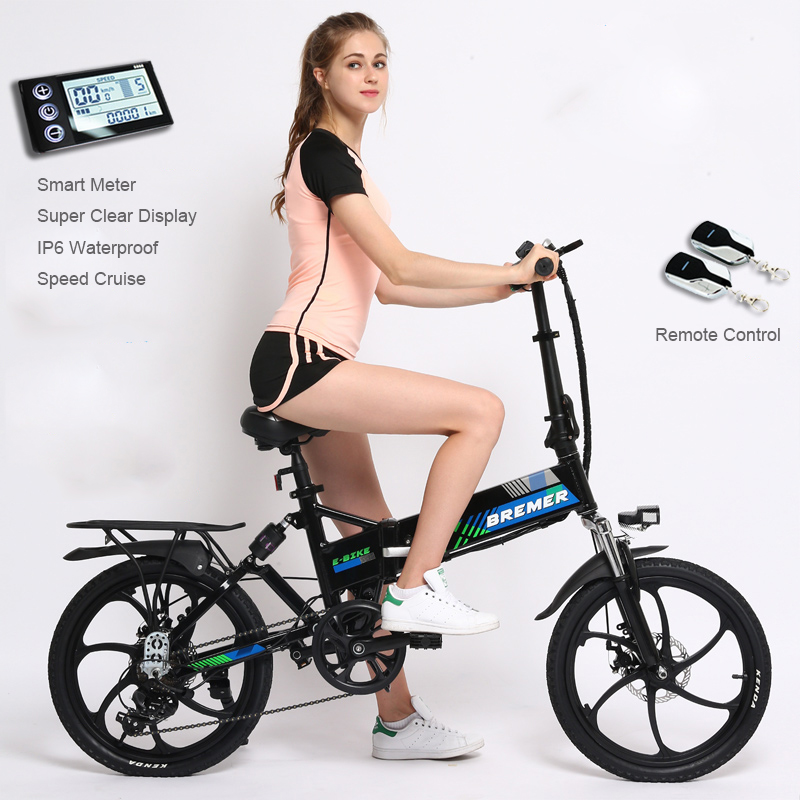 20 inch folding electric bicycle lithium battery bicycle mini adult Hidden battery ebike men and women