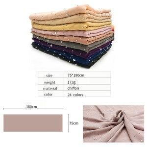 Image 2 - Écharpe en mousseline pour femme, châle en mousseline de soie pour femme, nouvelle mode, style musulman, bandana, 10 pièces, livraison rapide