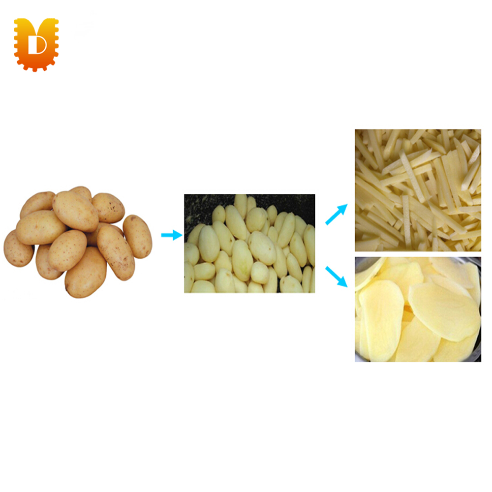 Potato peeling and slicing machine/tubers peeler and slicer/Multifunctional carrot washing and peeling and cutting machine