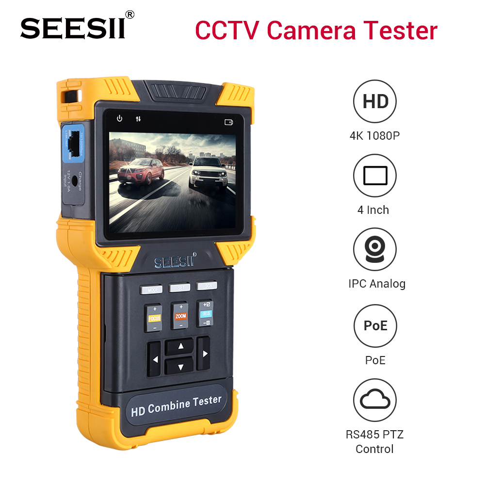 HD 1080P 4 inch IP Camera CCTV Tester Monitor Wifi TVI CVBS IP Discovery Camera Tester Security ONVIF Video Cam tvi tester|CCTV Monitor & Display| |  - title=