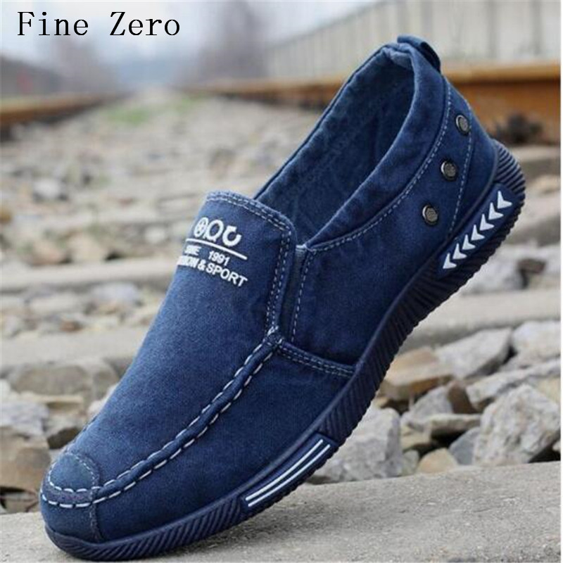 Fine Zero High Quality Canvas Men Casual Shoes Fashion Footwear Male Loafers Shoes Black Mens Shoes Sales Flats Walking Shoes male casual shoes soft footwear classic loafers men leather shoes fashion high quality business shoes male aa30142