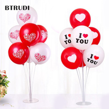 BTRUDI 30pcs balloon+1suit base/lot kiss me Latex Balloons printed  Ballons valentines day Wedding party supplies