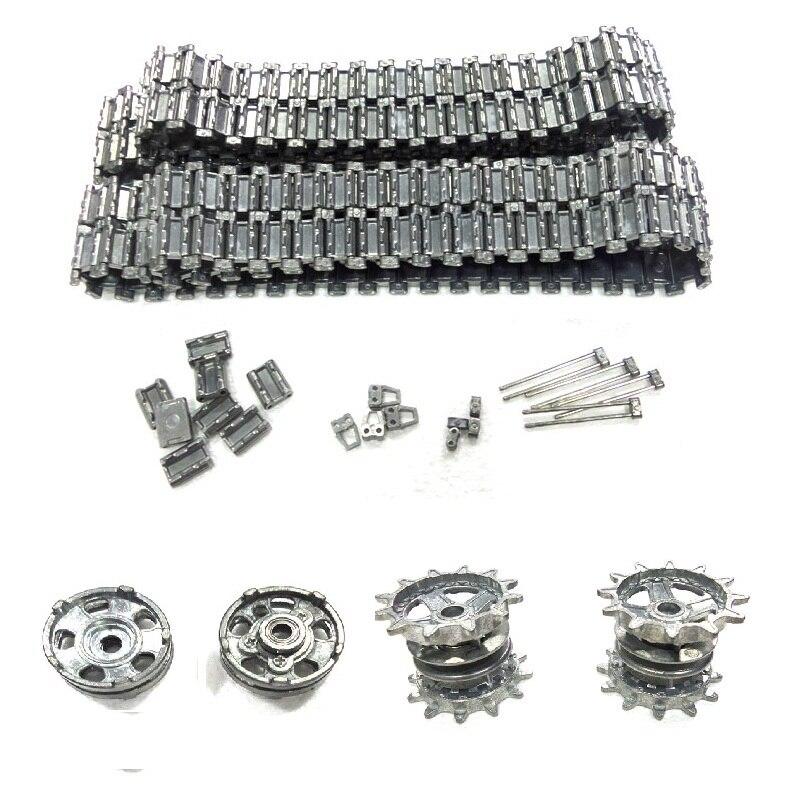 Henglong 3938 3938-1 russe T90 1/16 RC pièces de mise à niveau de réservoir ensemble de chaîne en métal + roue motrice + inducteur livraison gratuite