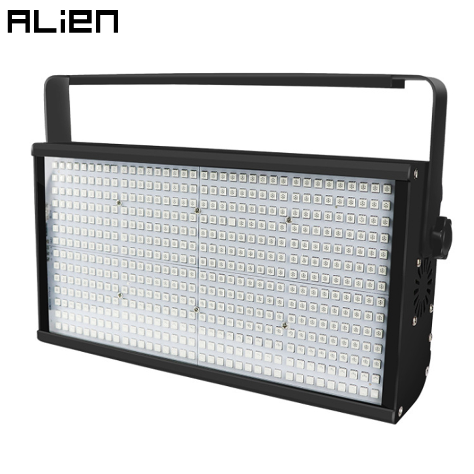 ALIEN 250W RGB 504 LED Disco Strobe Light For DJ Party Club Bar KTV Holiday Flash Auto DMX Sound-Activated Stage Lighting Effect title=