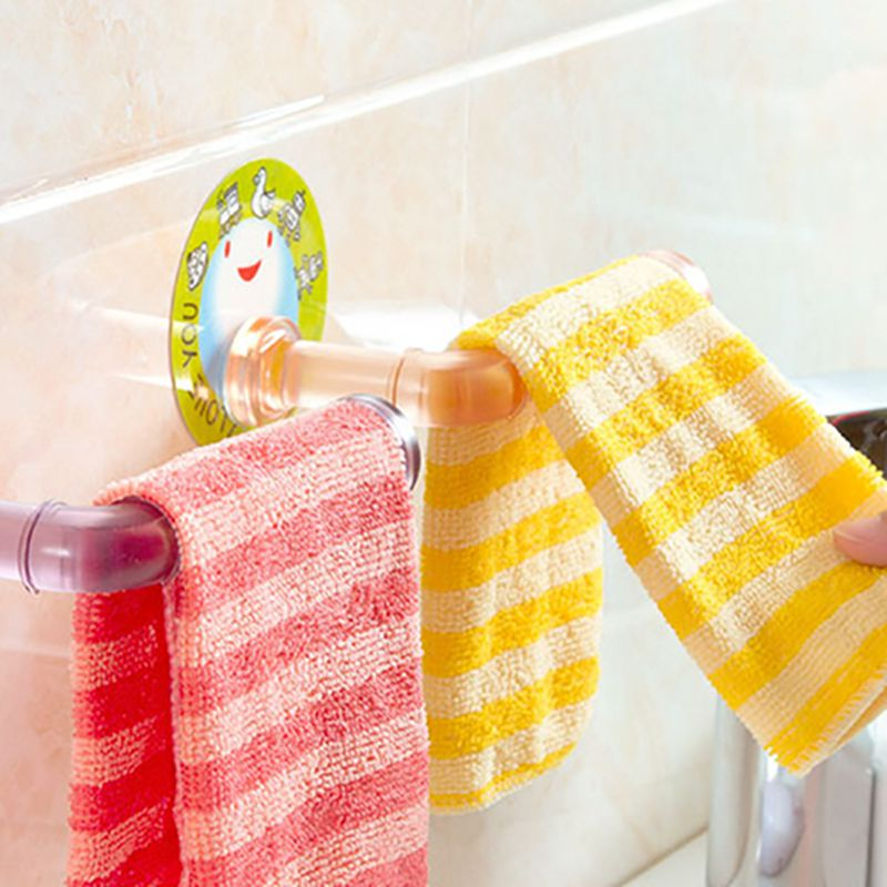 1Pcs Wall Hanger  Towel Shelf Toilet Paper Holder Gloves Hanging Rack Hook For Kitchen Bathroom  bearing up to 3kg