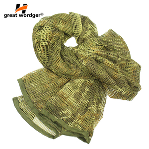 Image 3 - Outdoor Military Camouflage Tactical Mesh Breathable Scarf Sniper Face Veil Camping Hunting Multi Purpose Hiking Scarve