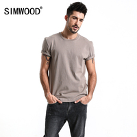 SIMWOOD New Arrive 2018 Summer Casual T Shirts Men Slim Fit Plus Size Tees Tops Pure