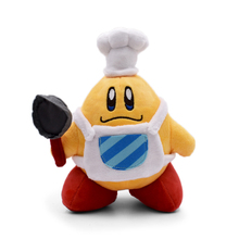 10pcs/set Mario Series Cute Kirby Plush Toy Kawaii Cook Kirby With Pan Doll For Children's Baby Great Birthday Wholesale Price 12 18cm cute kirby plush cartoon doll toy hot kawaii pink red yellow kirby star stuffed soft cotton doll toy for children gift