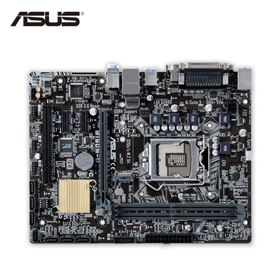 Asus B150M-D Desktop Motherboard B150 Socket LGA 1151 i7 i5 i3 DDR4 32G SATA3 Micro-ATX цена и фото