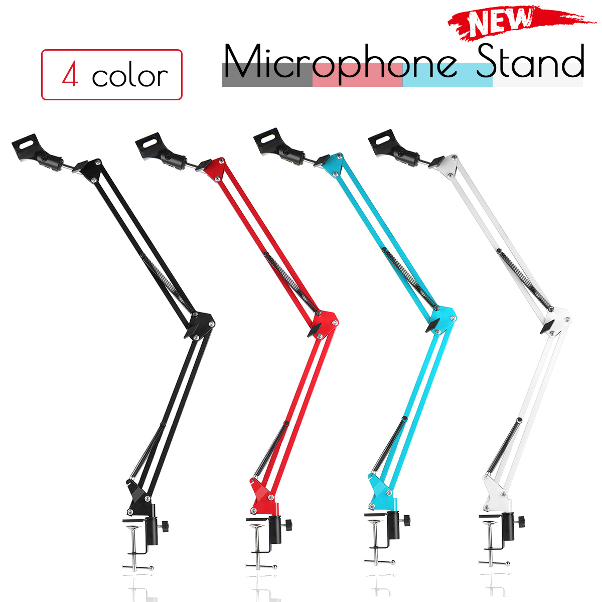 NB-35 Professional Metal Suspension Scissor Arm Adjustable Microphone Stand Holder For Mounting On PC Laptop Notebook