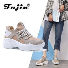 Купить с кэшбэком FUJIN Brand Women Cacsual Flats Shoes Women Sneakers Spring Autumn Female Shoes Lace Up  Pu Leather Comfortable for Women Shoes