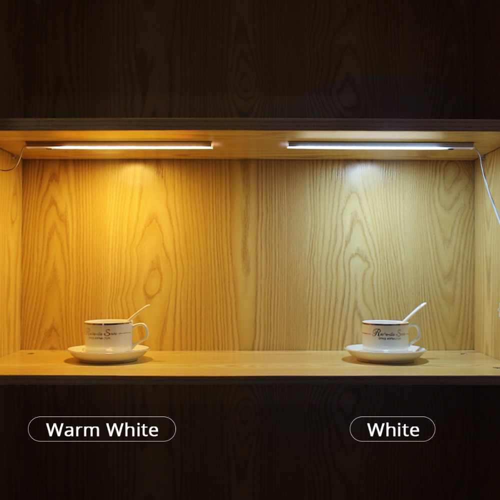 Ручная развертка развертки датчик светодиодный свет бар 5 Вт 6 Вт 7 Вт лазерная трубка лампа дневного света для шкаф Кухня украшение освещения 30/40/50 см