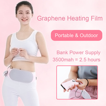 Graphene Heat Film Lower Back Therapy Belt Pain Relief for Dysmenorrhea Abdominal Cramps Arthritic Pink Care