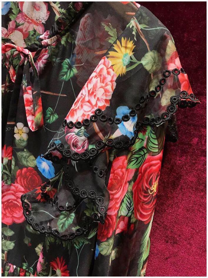 Femmes Marque Européenne Printemps L0168 2019 Qualité Nouvelles Style Partie Haute Design Robe De Luxe Mode ffwZn1vU