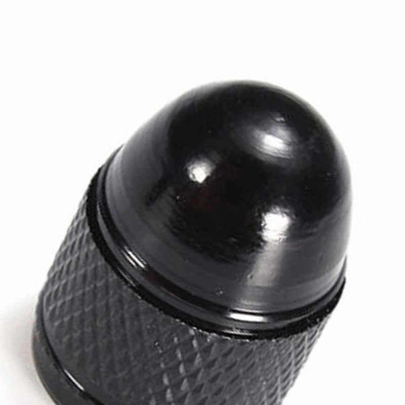 Tapas de válvula de rueda de coche 4 Uds. Tapas de aluminio negro tipo bala para coche de diseño único cubierta de puerto de aire para camión tapas de llanta de neumático tapas de vástagos de rueda