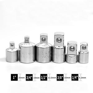"""Image 2 - Adaptador de llave de carraca de 1/4 """", 3/8"""" y 1/2 """"adaptador de funda de acero al cromo y vanadio"""