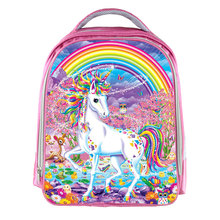 Unicorn Backpack for Girls Boys Animal Bag cartable enfant C