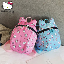 Hello Kitty Toddler Anti Lost Backpack with Harness Cute Cartoon Baby Walking Leashes Shoulders Bag Antilost Wrist Link Children super cute bear toddler anti lost backpack harness leash bag walking baby leashes bag toddler walker safety harness bag