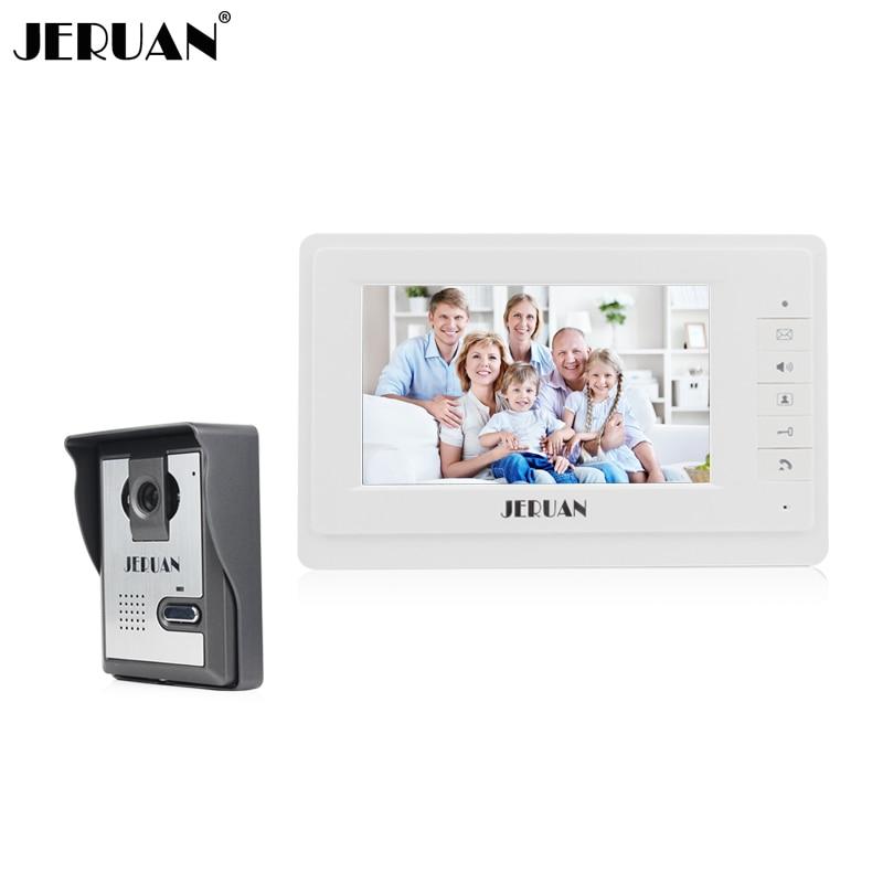 JERUAN 7 inch video door phone intercom system monitor doorbell doorphone hands-free speaker intercom