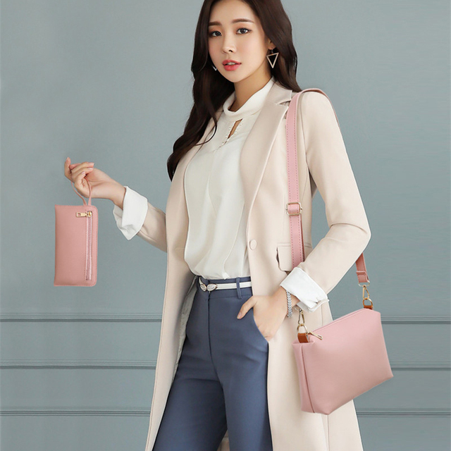 Fashion 4 Pcs/Set Ribbons Women's Handbags High Quality Leather Ladies Shoulder Bag Large Capacity Casual Crossbody Bag Sac 2018