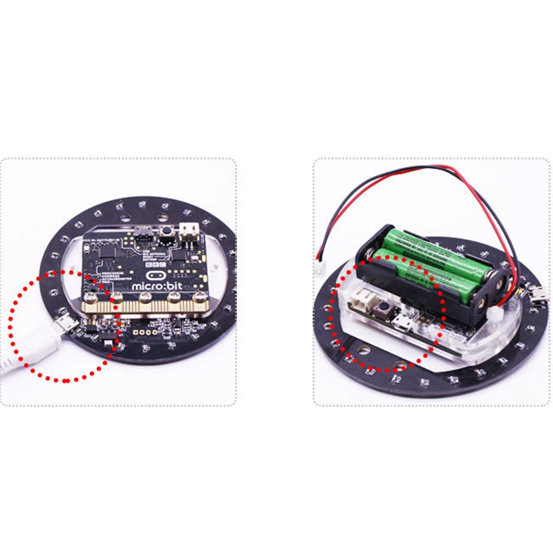 For Micro Bit Light Ring Expansion Board Micro Bit Full Color Led Light Module Rgb Driver Programming Development Board in Replacement Parts Accessories from Consumer Electronics