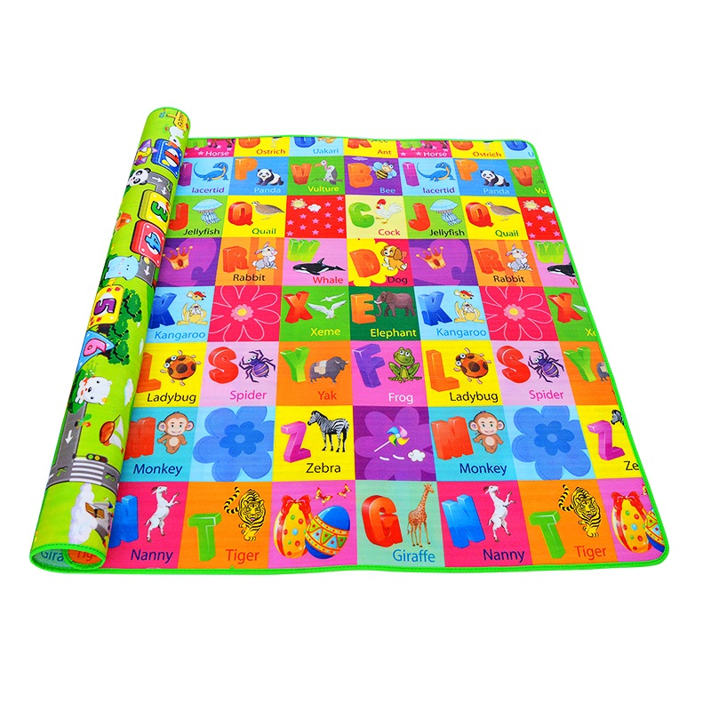 Hot Sale!! Baby Playing Mats Soft EVA Foam 0.5cm Thickness Double Side Cartoon Patterns Child Carpets For Kids Crawling Gym Mats