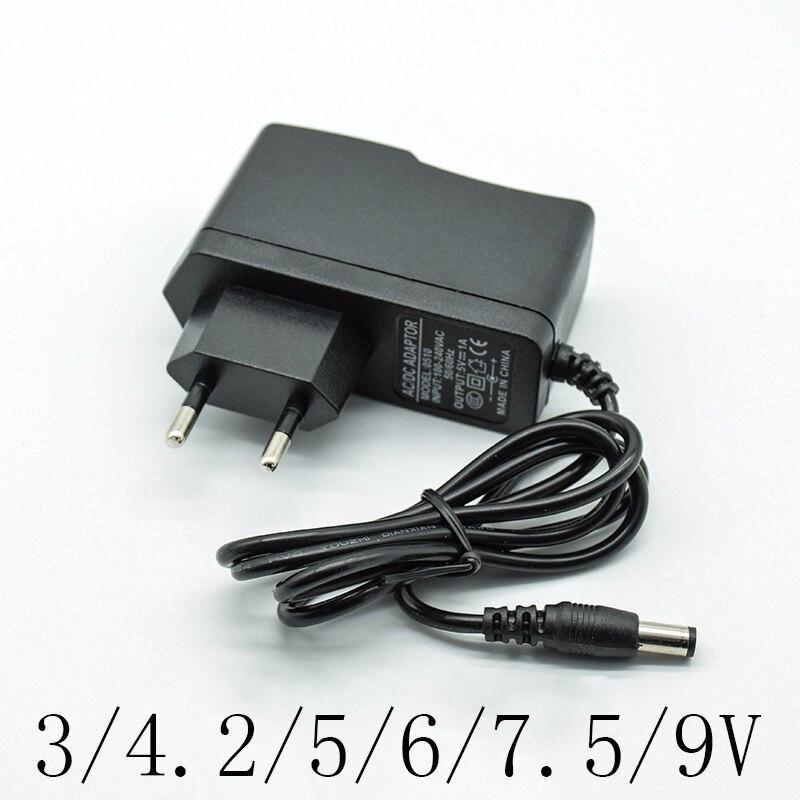 100-240 В адаптер преобразователя переменного тока DC 3/4. 2/5/6/7. 5/9/12 в 1A/1000мА зарядное устройство штепсельная вилка европейского стандарта 5,5 мм * 2,...