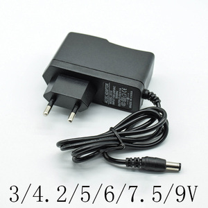 100-240V AC Converter Adapter DC 3/4.2/5/6/7.5/9/12 V 1A/1000mA Power Supply Charger EU Plug 5.5mm * 2.5mm(2.1mm) AC to DC